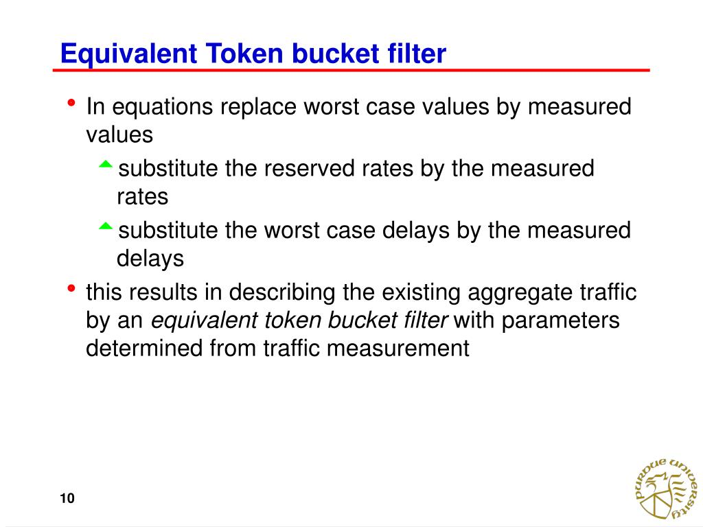Equivalent Token bucket filter