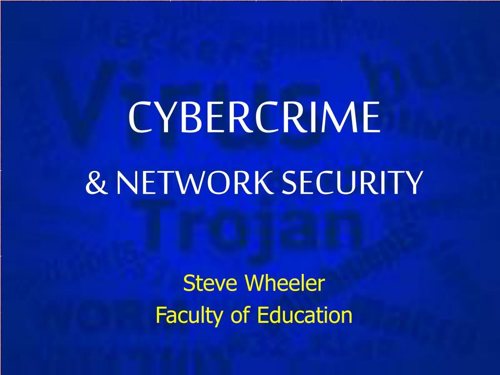 cybercrime network security l.