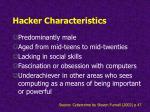 hacker characteristics