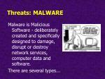 threats malware