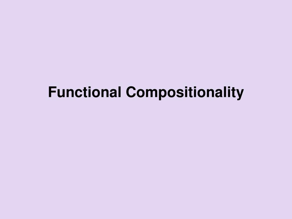 functional compositionality l.