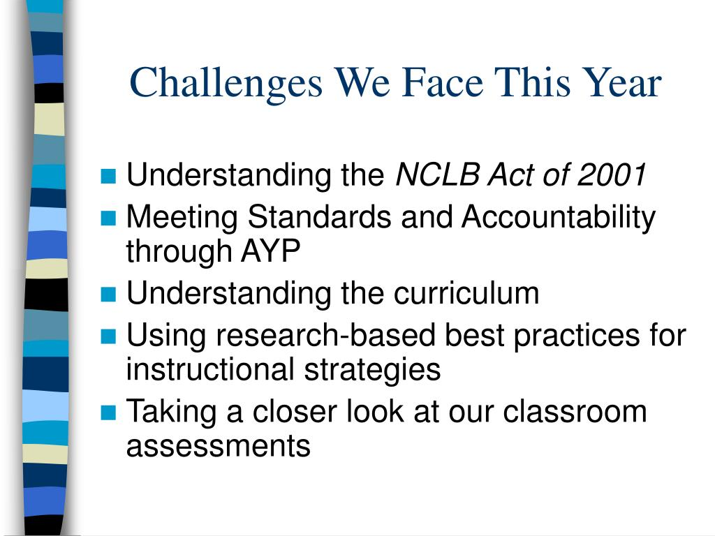 Challenges We Face This Year