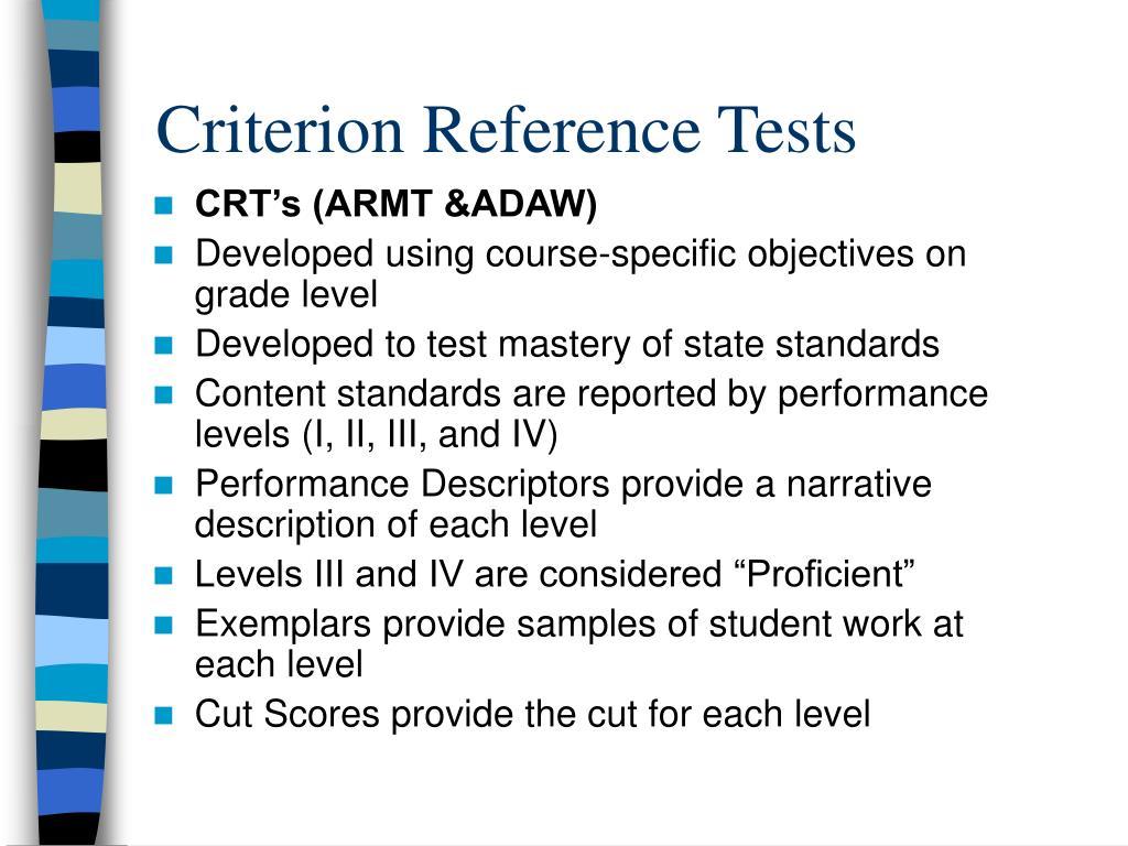 CRT's (ARMT &ADAW)