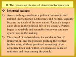 ii the reasons on the rise of american romanticism