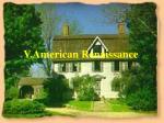 v american renaissance