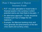 point 5 management of deposit insurance funds