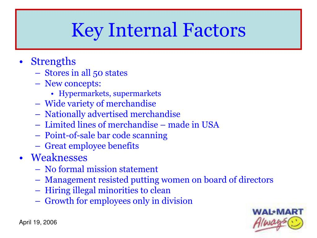 Key Internal Factors