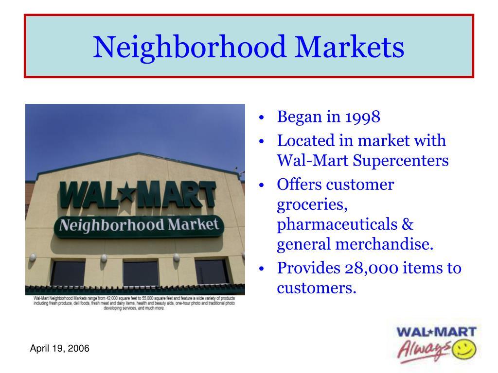 Neighborhood Markets