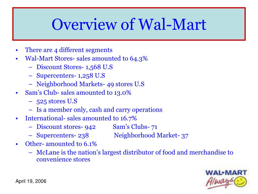 Overview of Wal-Mart