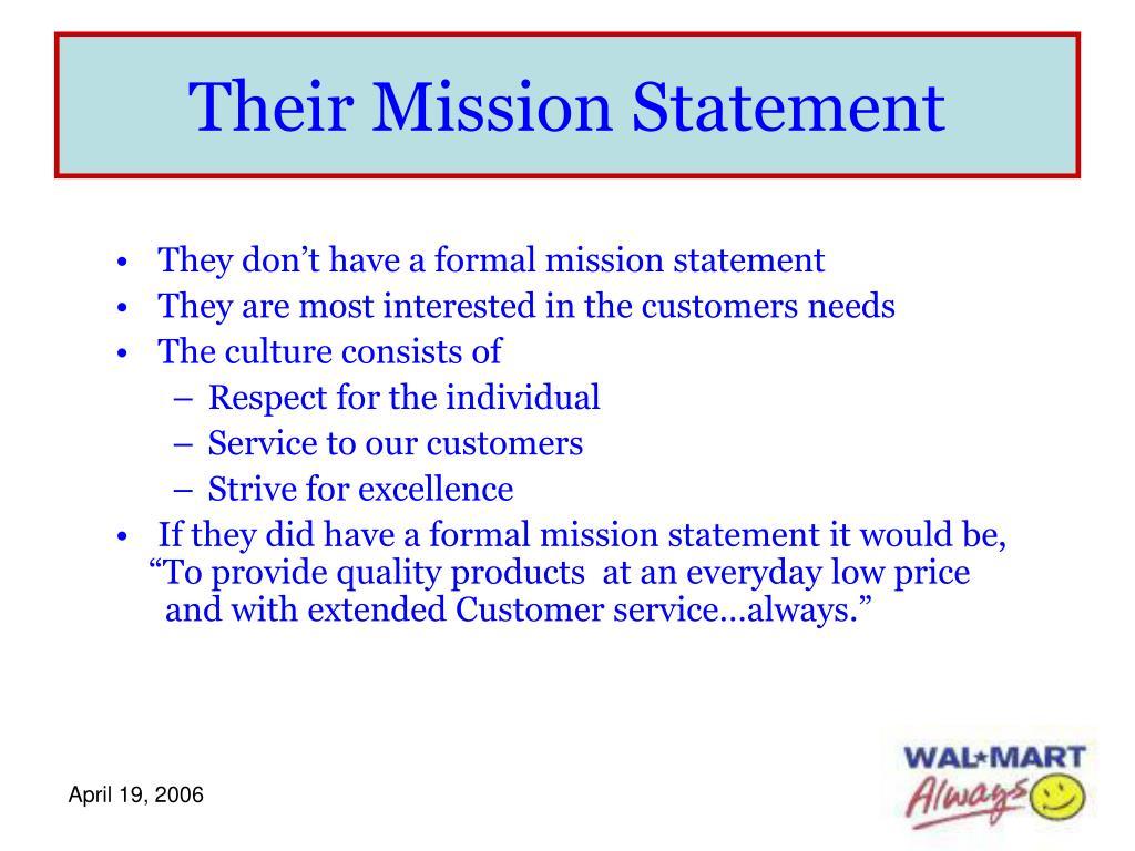 Their Mission Statement