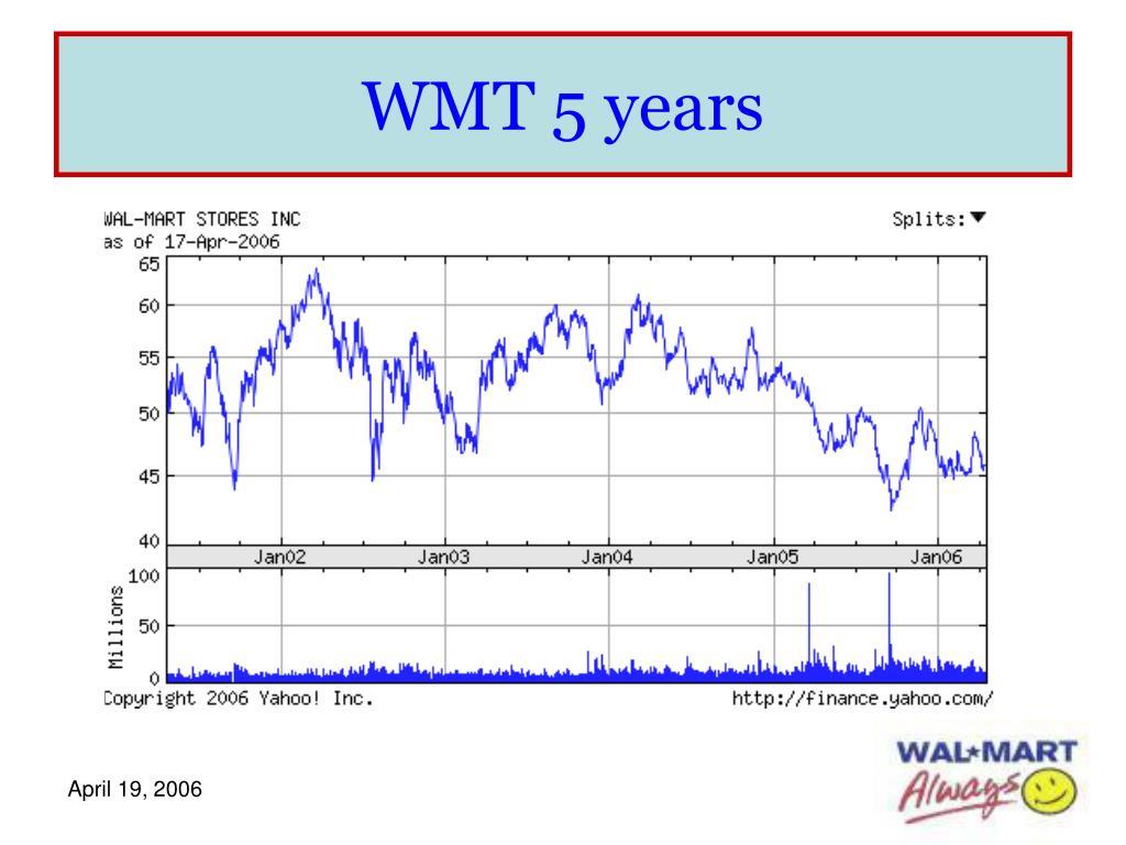 WMT 5 years