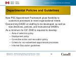 departmental policies and guidelines