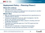 deployment policy planning phase 2