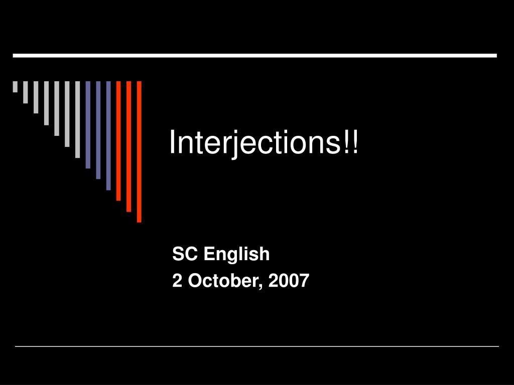 interjections l.