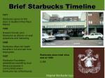 brief starbucks timeline