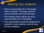 defining your audience
