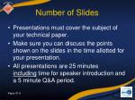 number of slides
