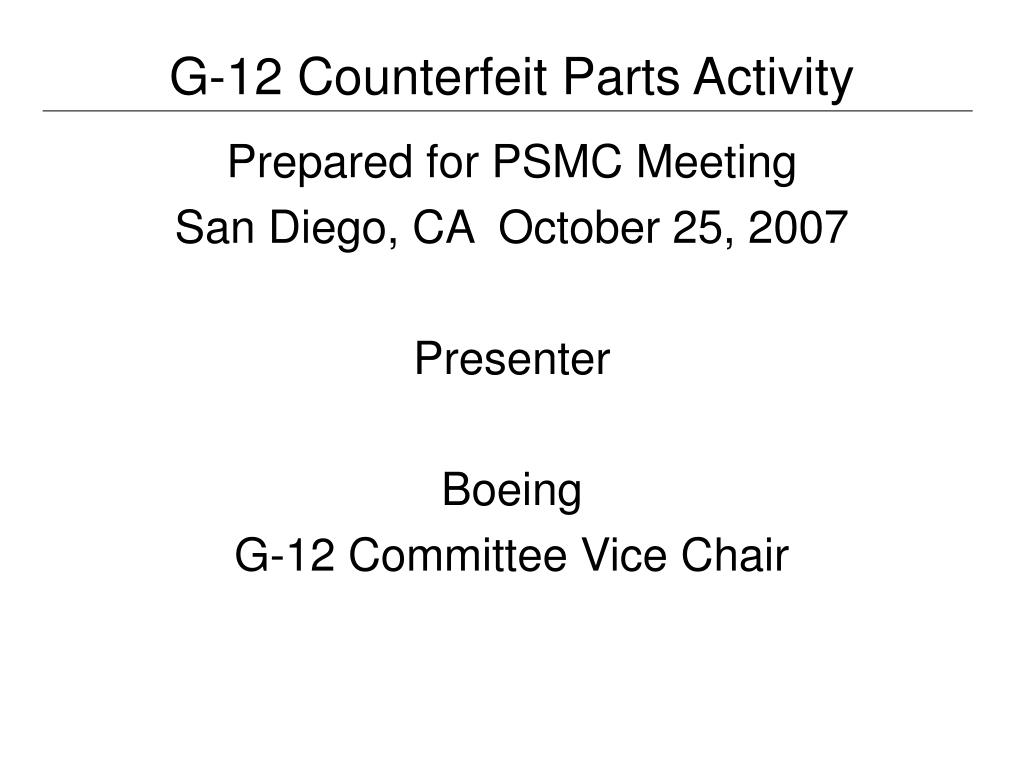 g 12 counterfeit parts activity l.