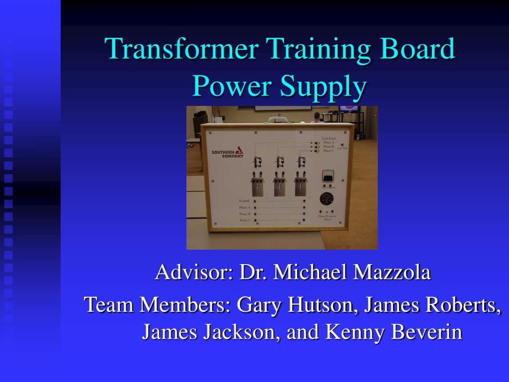 transformer training board power supply l.