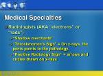medical specialties89