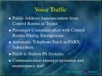 voice traffic