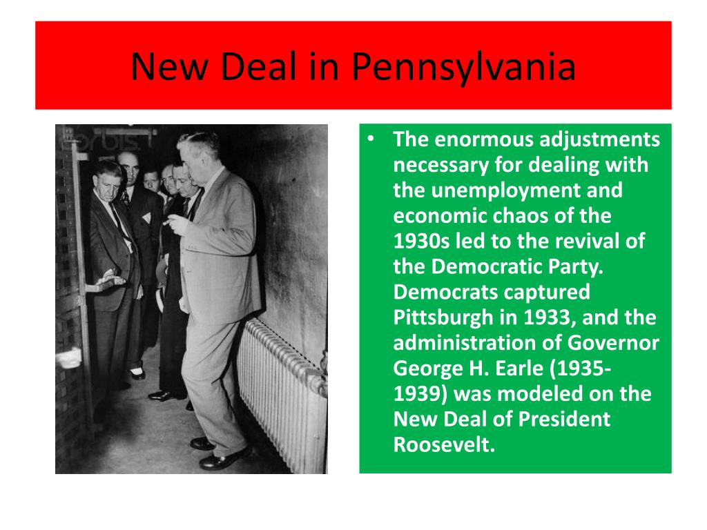 New Deal in Pennsylvania