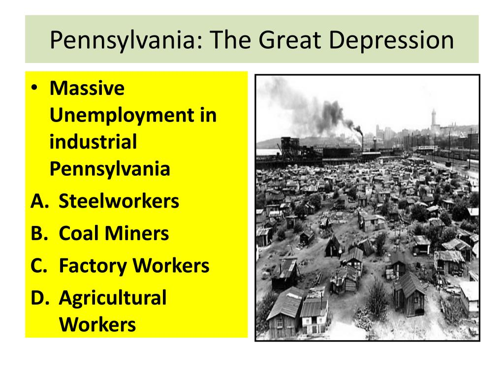 Pennsylvania: The Great Depression