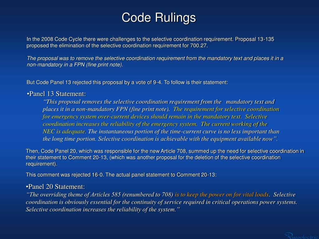 Code Rulings