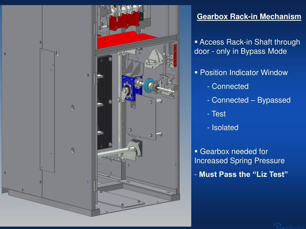 Gearbox Rack-in Mechanism