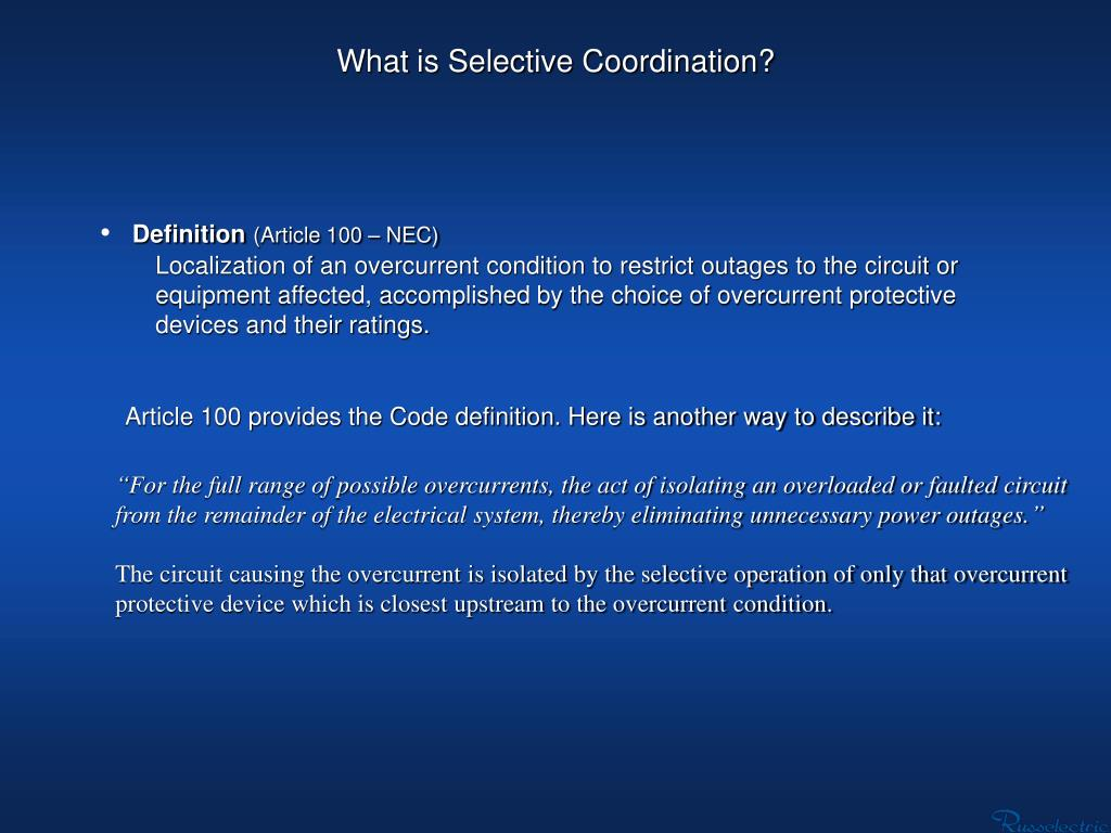What is Selective Coordination?