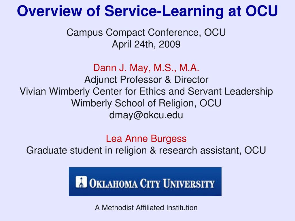 overview of service learning at ocu l.