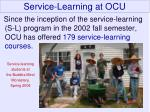 service learning at ocu
