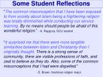 some student reflections