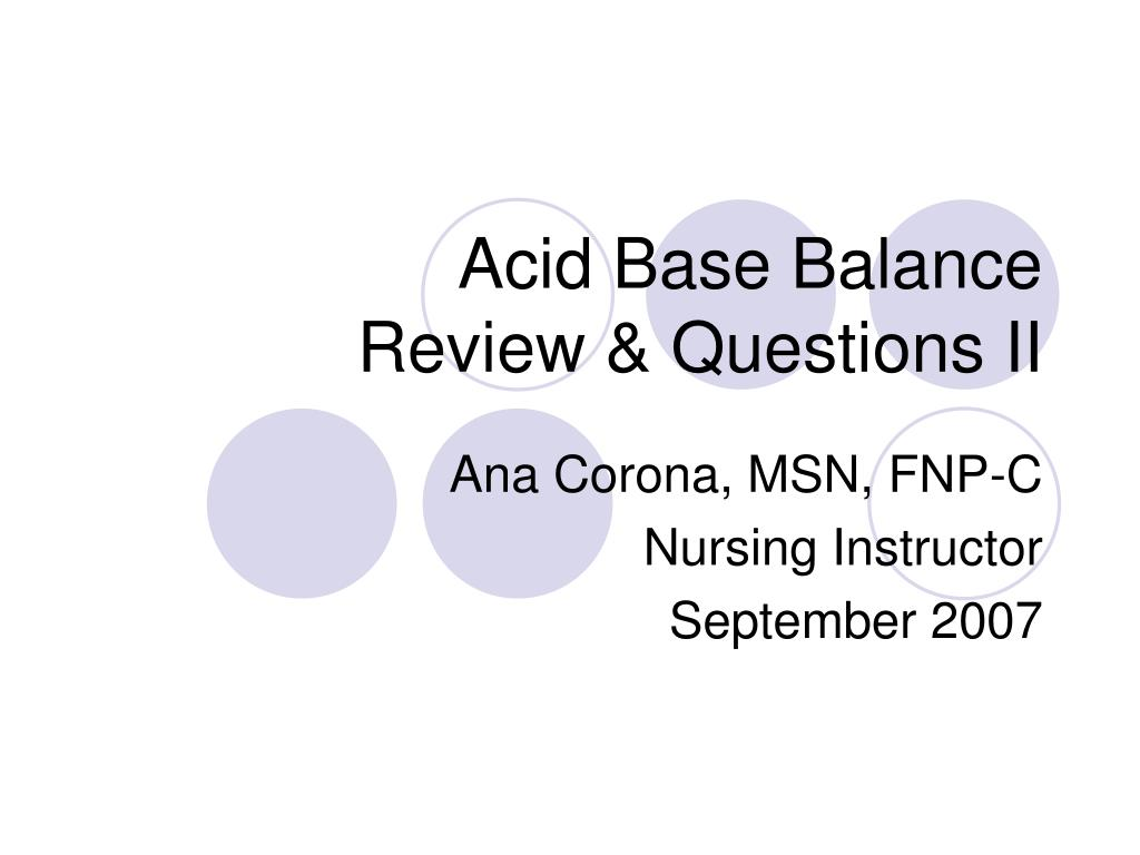 acid base balance review questions ii l.