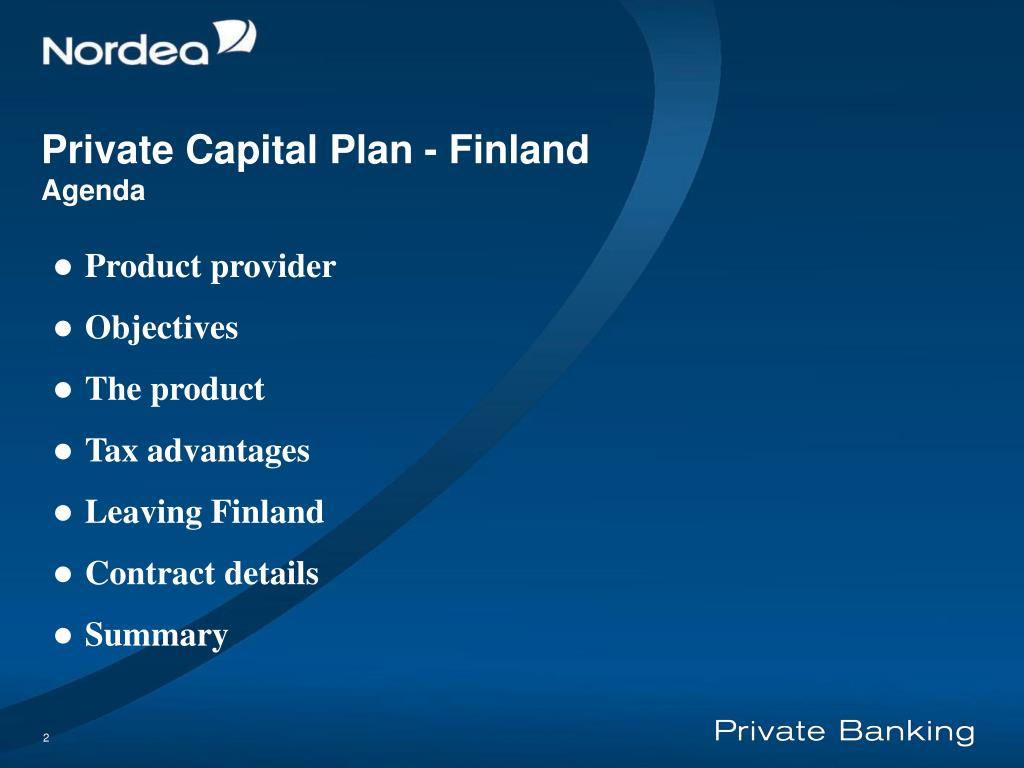 Private Capital Plan - Finland