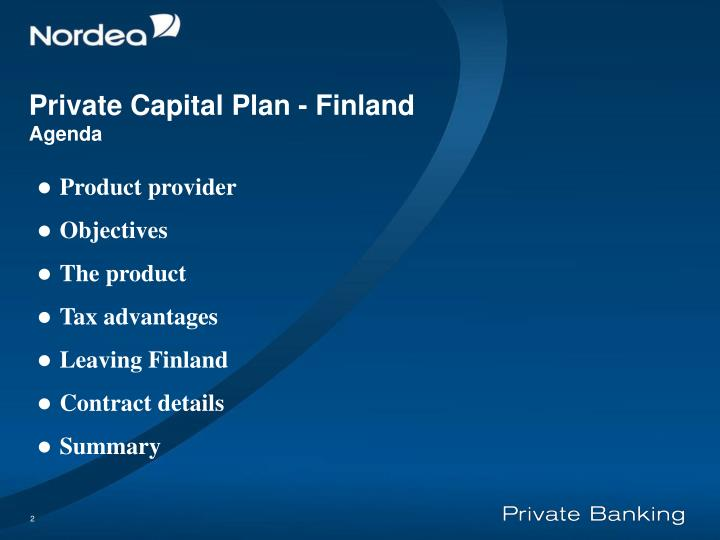 Private capital plan finland agenda