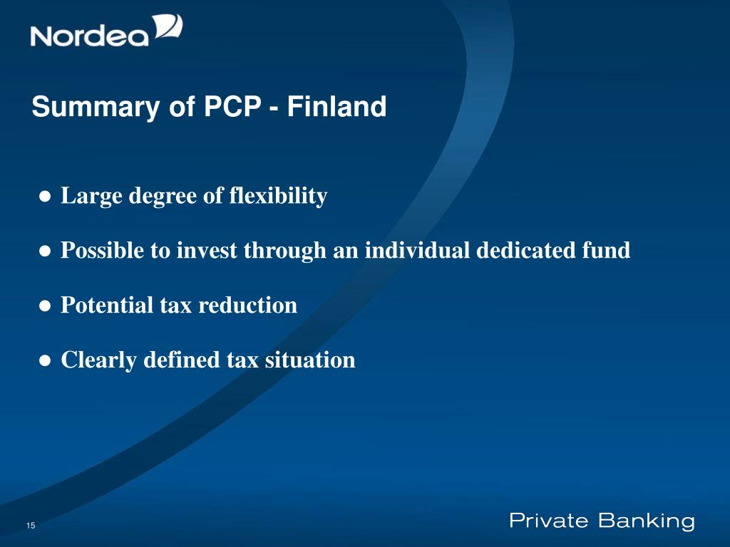Summary of PCP - F
