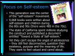 focus on self esteem
