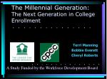 the millennial generation the next generation in college enrollment
