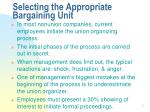 selecting the appropriate bargaining unit