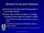 school crime and violence