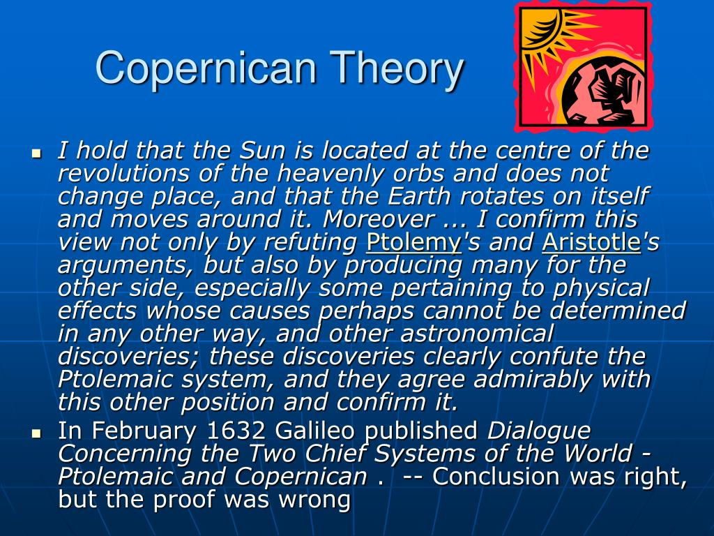 ptolemaic theory vs copernican theory essay