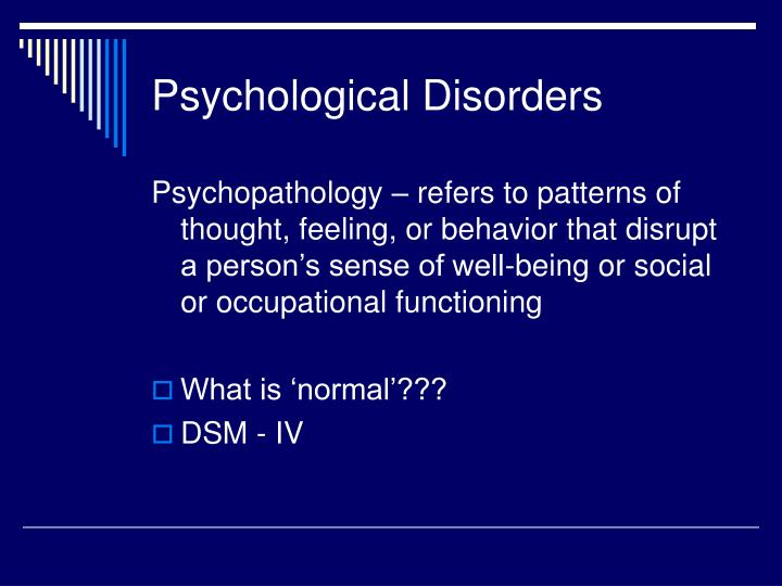 Psychological disorders2