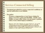 service connected billing