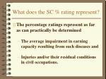 what does the sc rating represent