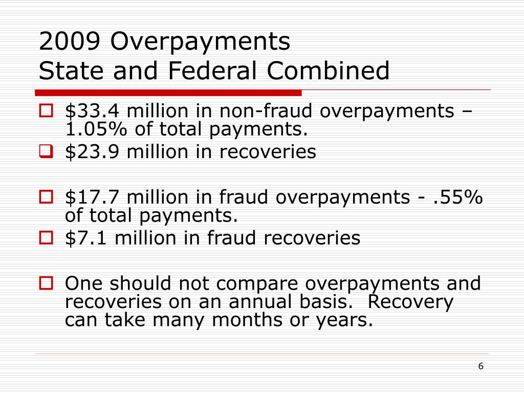 2009 Overpayments
