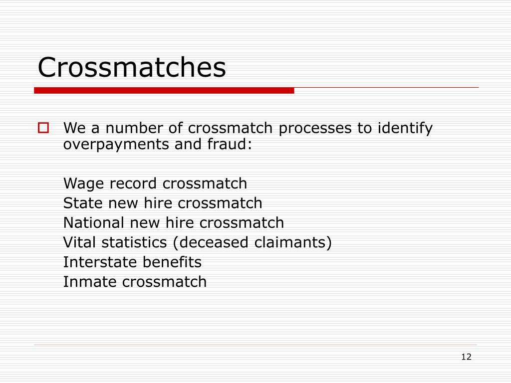 Crossmatches