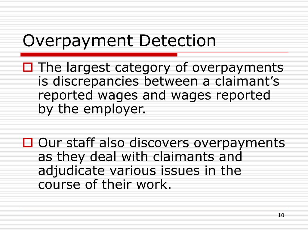 Overpayment Detection