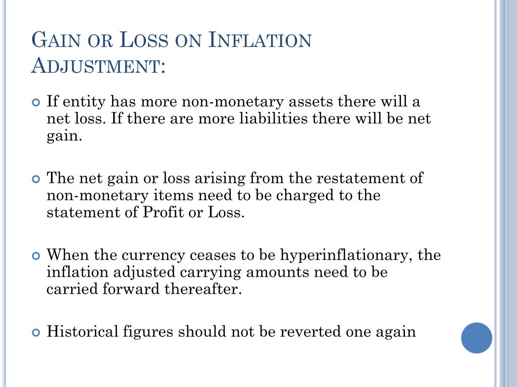 Gain or Loss on Inflation Adjustment: