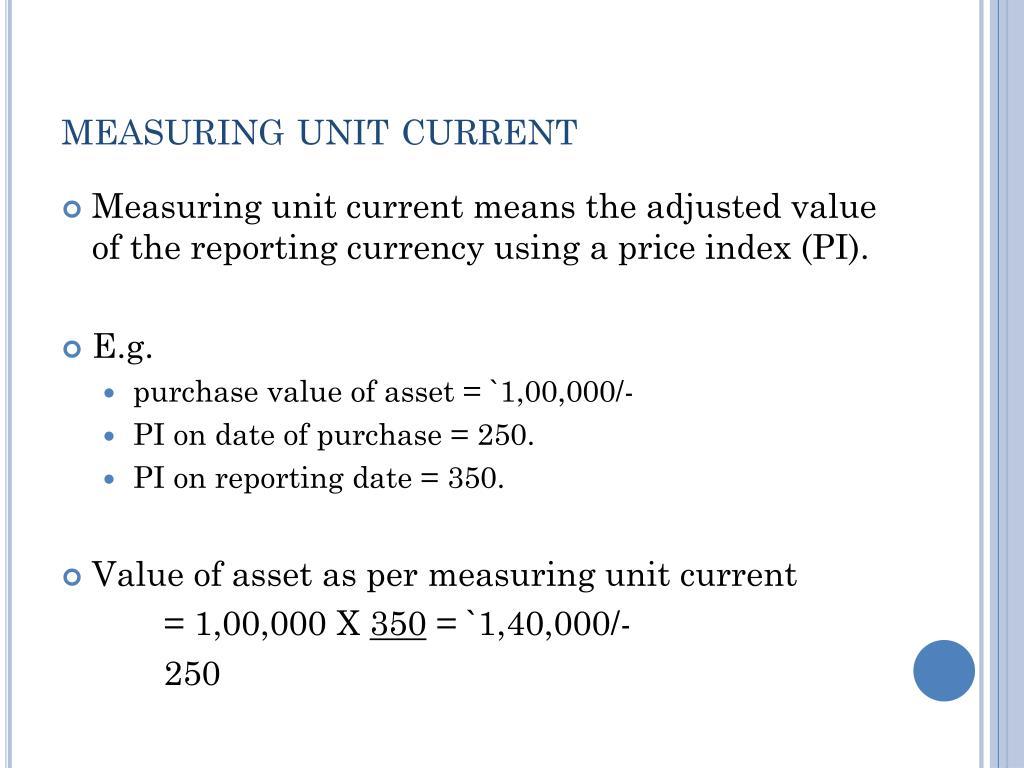 measuring unit current